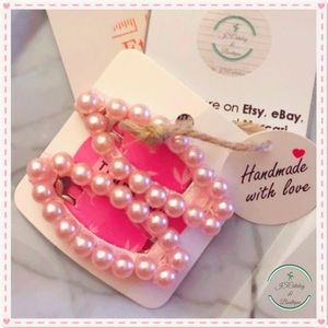 🌸 Faux Pearl Handmade Set of 2 Barrettes 🌸